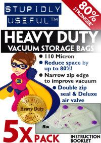 Stupidly Useful Premium Heavy Duty Vacuum Storage Bags